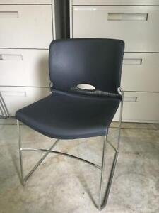 Black Stacking Chairs - Guest Chairs - $49