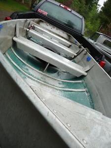 14 ft Aluminum hartbercraft+6HP Evinrude+ Minkota motor+trailer