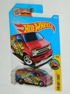 Hot Wheels 1/64 Custom '77 Dodge Van HW Art Cars Diecast Car