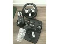Logitech G27 wheel shifter and pedals