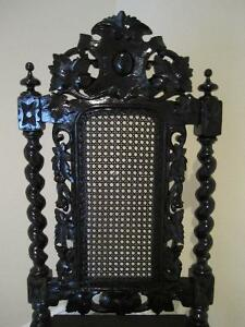 Antique Carved Black Forest Hall Chair for Home deco Kitchener / Waterloo Kitchener Area image 2