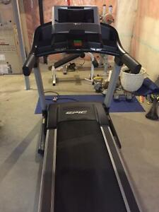 Treadmill and weight benches