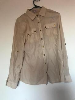 Light brown business shirt, long sleeve