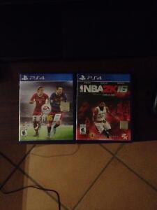 FIFA 16 & NBA 2k16 mint condition $40 for both