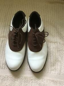 LADIES Brown & White Saddle Golf Shoes