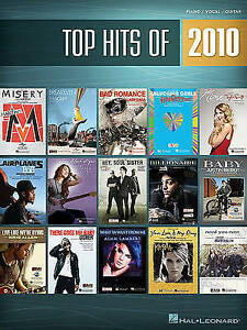 Top Hits of 2010: Piano/Vocal/Guitar (To