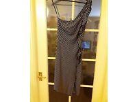Jane Norman black/white striped dress