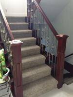Stairs, Handrails, spindles , railing and crown mouldin