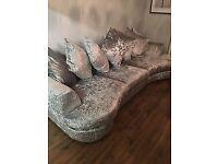 Next crushed velvet corner sofa