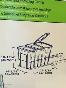 Slide out garbage waste bins for inside kitchen Cupboard accesry Cambridge Kitchener Area image 3