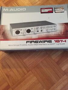 M-Audio FireWire 1814 Computer Recording Interface London Ontario image 1