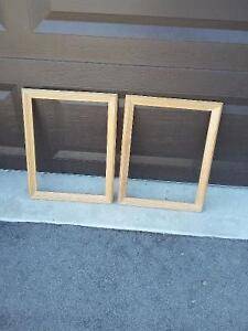 Set of 2 raw wooden framed decorative DIY supplies Brand new London Ontario image 1