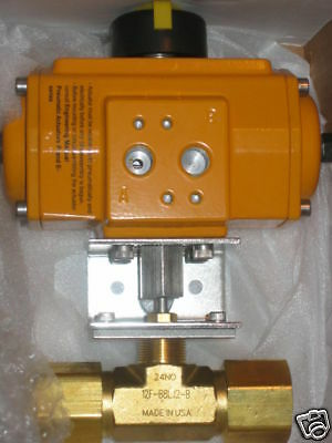 PARKER PNEUMATIC ACTUATED BALL VALVE 12F-B8LJ2-B-62AC-3
