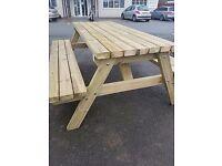 5ft (1490mm) Pub style picnic bench - heavy duty