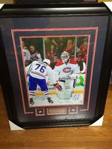 Signed and framed PK Subban & Carey Price picture-collectible!