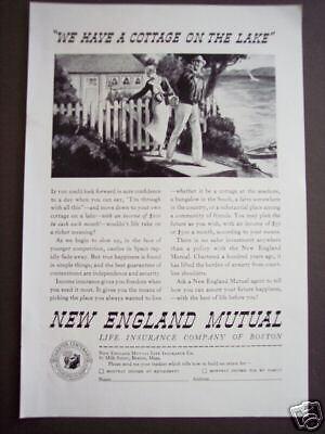 1935 New England Mutual Income Insurance Art Ad
