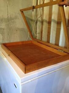Wood and glass display case