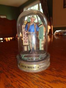 Franklin Mint John Wayne hand painted sculpture