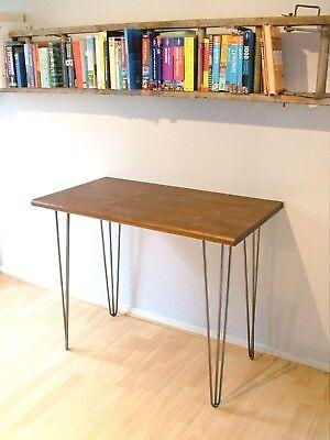 Bespoke handmade wooden walnut table / desk. 95