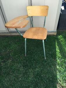 Antique student desk chair