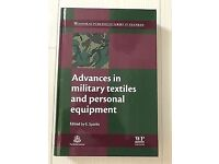 New Advances in military textiles and personal equipment R.R.P 155.00