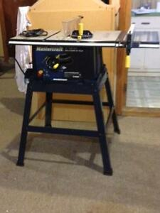 "Mastercraft Table saw 10""  with Manual"