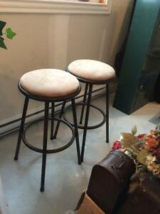 Two stools (bar height)