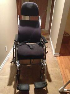 Reclining Wheelchair with head and foot rests Peterborough Peterborough Area image 2