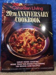 Canadian Living 20th Anniv Cookbook, ExUsed Tight Binding 1st Ed