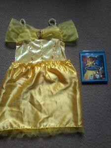 Beauty and the Beast Bluray / DVD & Belle's costume $10.00