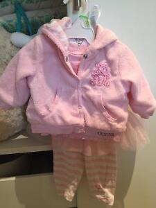 Baby guess three piece outfit