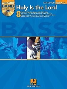 NEW Holy is the Lord Bass Vol.1 Worship Band Play-Along BK/CD