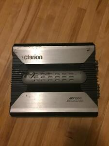 """Clarion 300 watt amp apx1300 and two 12"""" kenwood subs"""