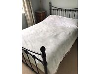 solid double bed with mattress delivery available