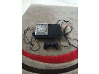 Ps3 12gb superslim one controller , fifa 16 , black ops ghosts