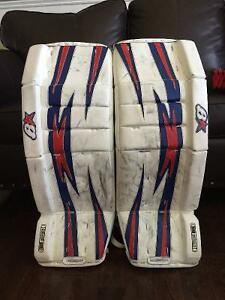 Goalie pads and skates for sale