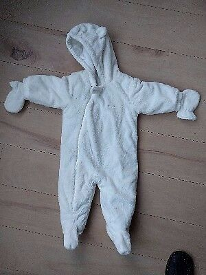 Brand new Next all in one furry Snowsuit with feet & mitts | Age 6-9 months (very large) | £10