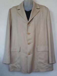 Oakville Genuine ZEGNA ITALY $500 Linen Blazer Mens Large 42 44 L Summer Jacket Beige Designer Italian IT52 Cool Lk New