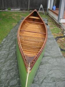 16 ft Cedar/ Canvas Canoe