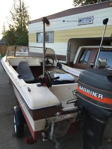 14.5ft canaventure/ 50hp mariner