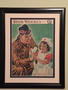 Star Weekly Magazine Cover Framed