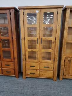 RRP$799 Woolshed Glass Display Cabinet FACTORY DIRECT CLEARANCE