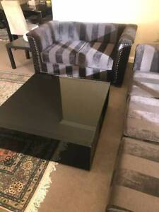 $250  (Square Coffee Tables Glass Plus Dining Table) Meadowbank Ryde Area Preview