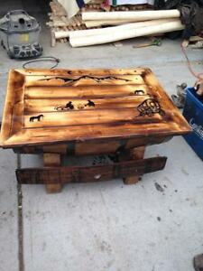 Stunning one of a kind Tables and barrels