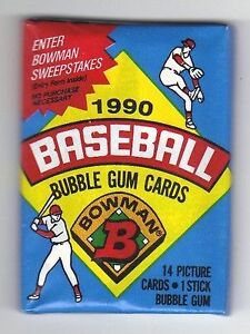 1990 Bowman Baseball Unopened Wax pack (4 Packs) Kitchener / Waterloo Kitchener Area image 1