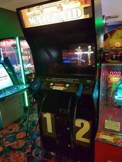 Arcade Warzaid gun shooter all original art worked cabinet