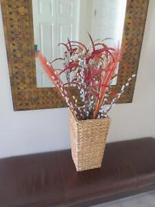 Wicker basket w fall foliage Kitchener / Waterloo Kitchener Area image 1