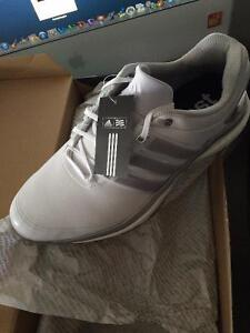 Men's Adipower Boost 2 Spiked Golf Shoes - Ftwr White/Silver 9