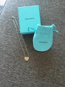 Tiffany and Co rose gold necklace
