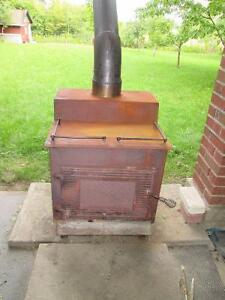 Wood Stove and Exhaust Pipe